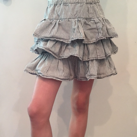 fabkids Other - Cute Blue and White stripe ruffle skirt.